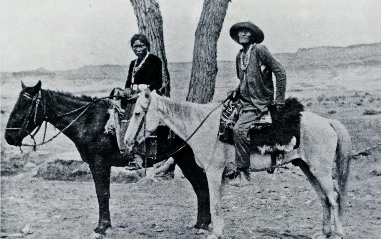 Hoskininni and friend circa 1907