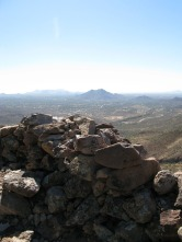 Black Mountain in foreground pinnacle peak in distance