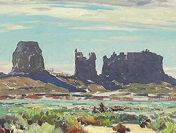 Carl Oscar Borg Monument Valley 30x34 oc copy