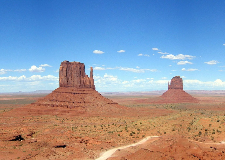 The Mittens in Monument Valley