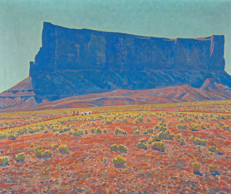 The Rampart by Maynard Dixon dated 1922