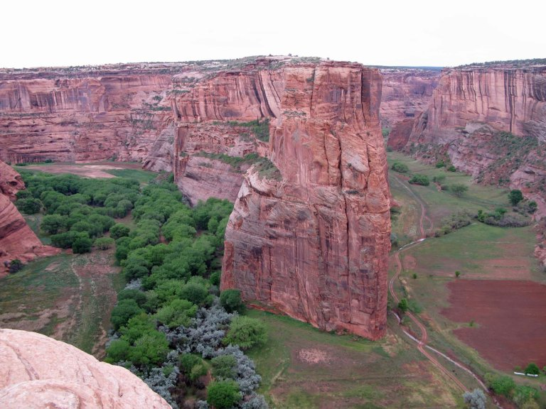 Navajo Fortress Rock Canyon de Chelly by Gary Fillmore