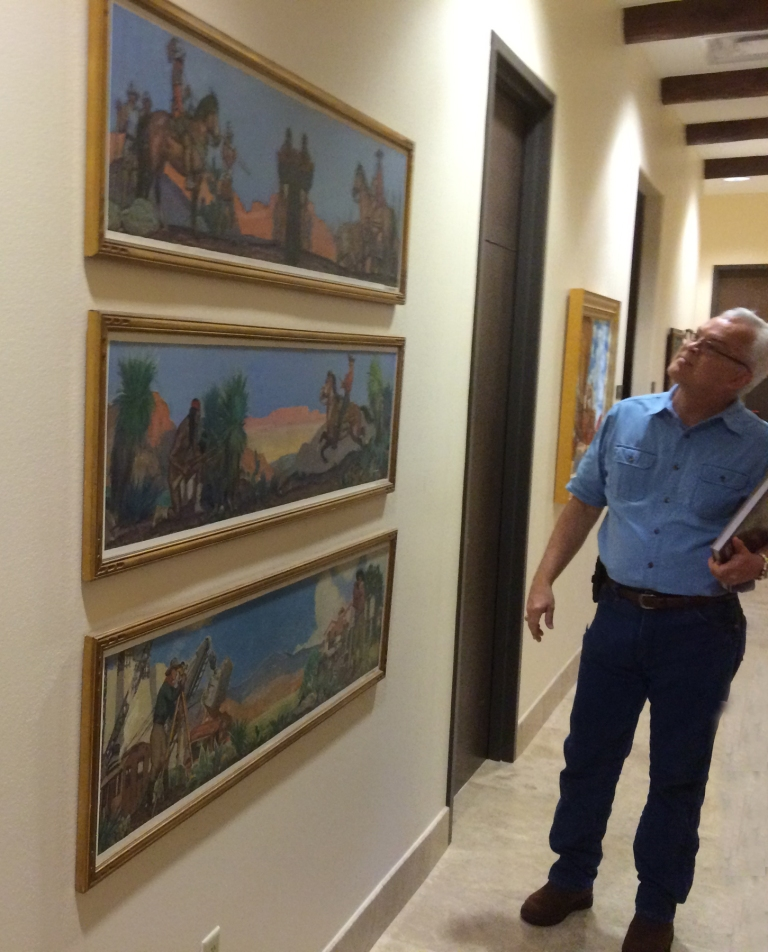 Byron Lewis by studies for Arizona State Capitol Murals