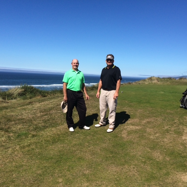 Chris Derrick and Niko Hadden at Bandon Dunes Oregon