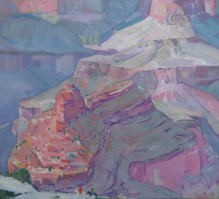 Lon Megargee Grand Canyon Holiday 16x16 OIl on canvas Circa 1916