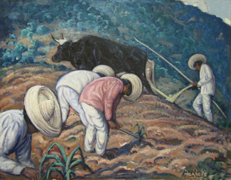 Lon Megargee Mexican Field workers