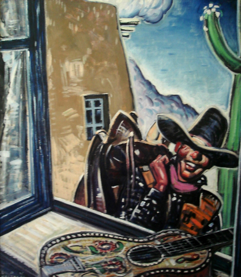 Lon Megargee Ranch Days 30x26 Oil on canvas Circa 1936
