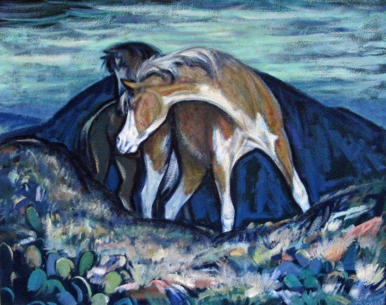 Lon Megargee Two Horses