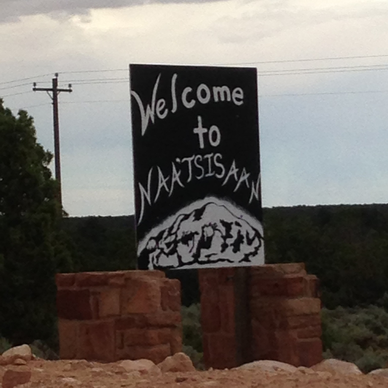 3 Navajo Mountain sign by Gary Fillmore