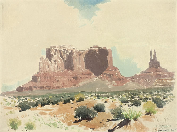 James Swinnerton Monument Valley field sketch 12x16