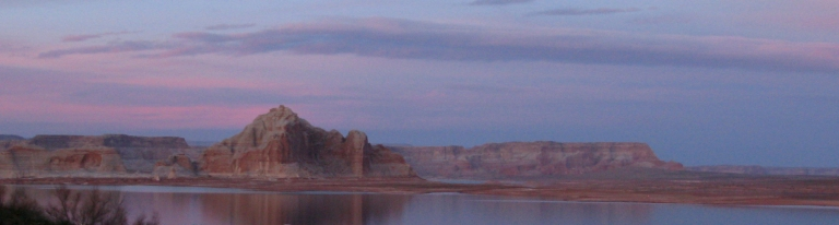 Lake Powell sunset by Gary Fillmore