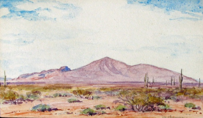 Marjorie Thomas Camelback Mountain 3x5 WC unframed