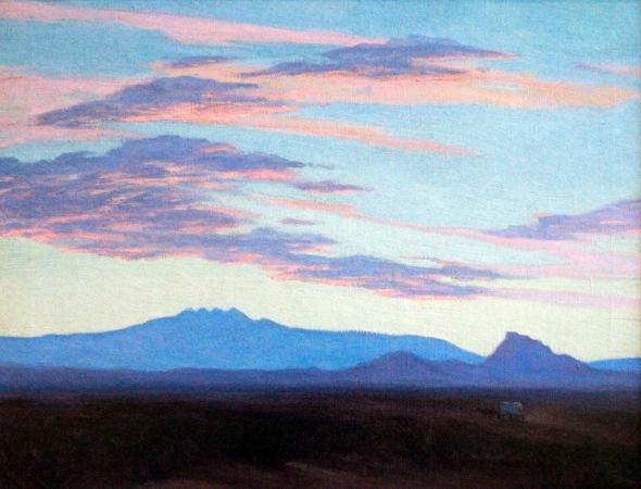 Marjorie thomas  covered wagon on four peaks 20 x 26 oc