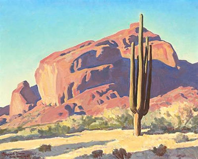 maynard-dixon-camelback-red-rocks-and-cactus-16x20-ob-3