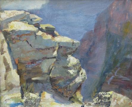 Dewitt Parshal l Grand Canyon painting l Grand View 10x12 OB