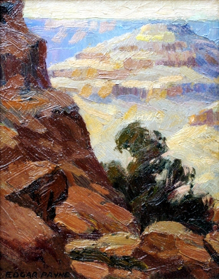 Edgar Payne Grand Canyon 1918 10 x 8 ob