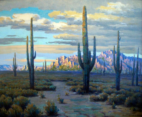 John Marshall Gamble Saguaro Mtns. (superstitions) 24 x 30 o